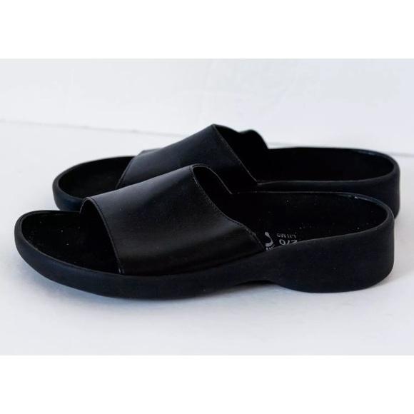4b85010296e Birkenstock Shoes - TATAMI by BIRKENSTOCK Slide Sandals Black Leather