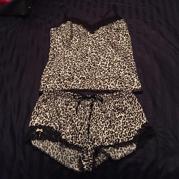 070e581d3 Cheetah print Victoria's Secret silk pajamas. M_57f7befdbcd4a7ceeb01e5a7