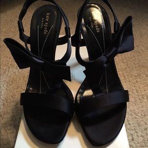 New kate spade black bow heels