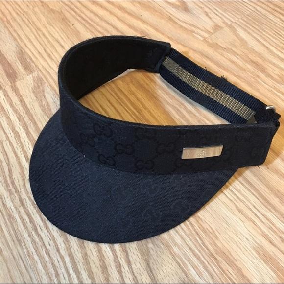 93d4d192ff372 Gucci Accessories - GUCCI authentic unisex vintage black canvas visor