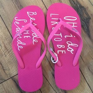 Joules Shoes - Joules Sandy Flip Flops in Seaside Quote