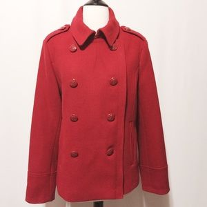 jcpenney Jackets & Blazers - ✨ FLASH SALE ✨ Red Wool Pea Coat