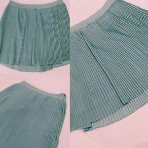 Mint Green Pleated Skirt