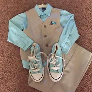 Other - Tan and Teal outfit size 6. SNEAKERS NOT INCLUDED!