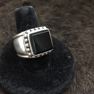 Jewelry - Black Onyx Sterling Silver Ring