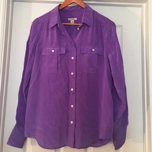 J. Crew Tops - J. Crew orchid button down