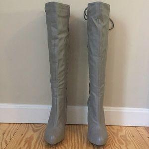 Colin Stuart Shoes - Grey lace-up boots