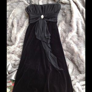 Masquerade Dresses & Skirts - Black Velvet Formal Tea Length Cocktail Dress