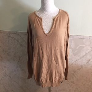 Joe Fresh Tan Soft Sweater