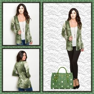 🎉 HP 🎉  💚 Olive & Tan Cardigan 💚