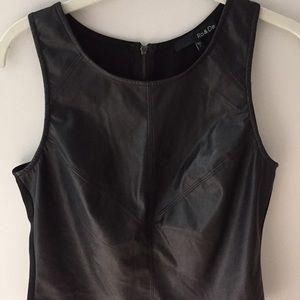 Sleeveless Black Leather Top