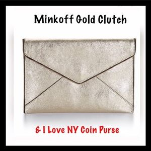 Rebecca Minkoff Handbags - REBECCA MINKOFF LGE Clutch w/RM free change purse!
