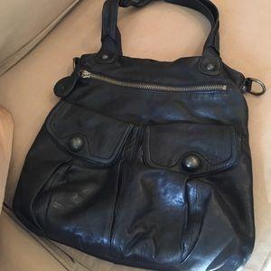 Linea Pelle Handbags - Linea Pelle Collection black soft leather purse