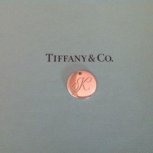 """Tiffany & Co. Jewelry - Tiffany & Co Notes """" K """" Disc Pendant"""