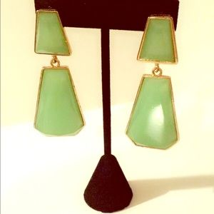  Jade Green Drop Earrings 