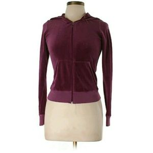 Juicy Couture Jackets & Blazers - Juicy Couture burgundy / fuchsia hoodie - NWOT