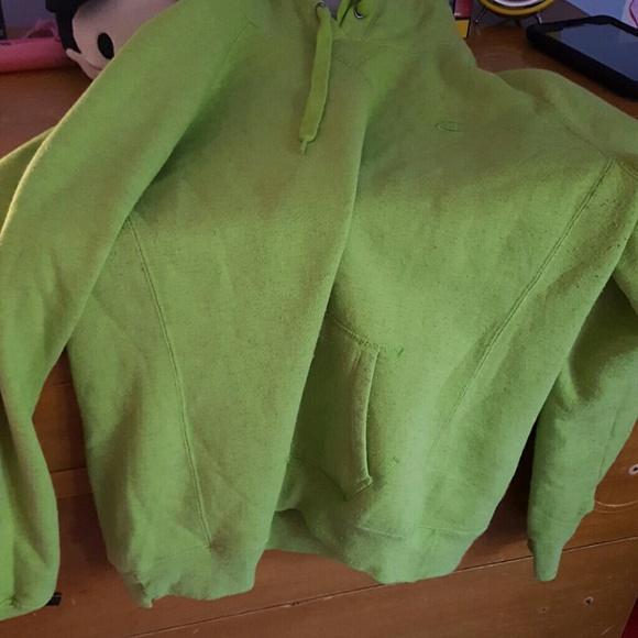 bottom price 60% cheap bottom price A lime green hoodie