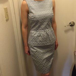 Dresses & Skirts - Peplum top-2 piece set with matching skirt