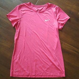 Nike dri-fit fit pink tee