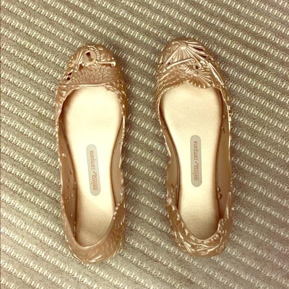 super popular outlet online well known Melissa + Campana Barroca Jelly Ballet Flat - Gold