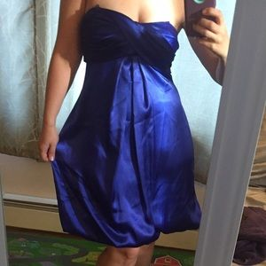 Jump Dresses & Skirts - Bubble Party dress in silky & strapless Royal Blue