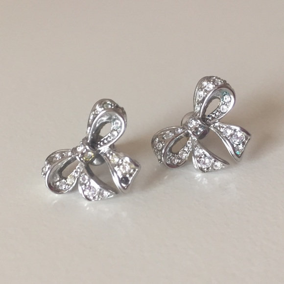 4c87a40bb Ted Baker London Jewelry | Ted Baker Crystal Silver Bow Earrings ...