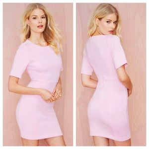 Nasty Gal Neoprene Pink Dress