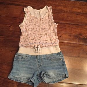 Other - Children's Place Top & Imperial Star Denim Shorts