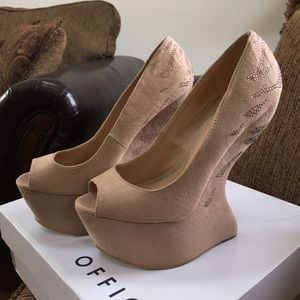 Office London Shoes - Office London Nude Shocker Wedges