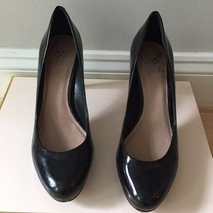 Black Patent Leather Vince Camuto Heels