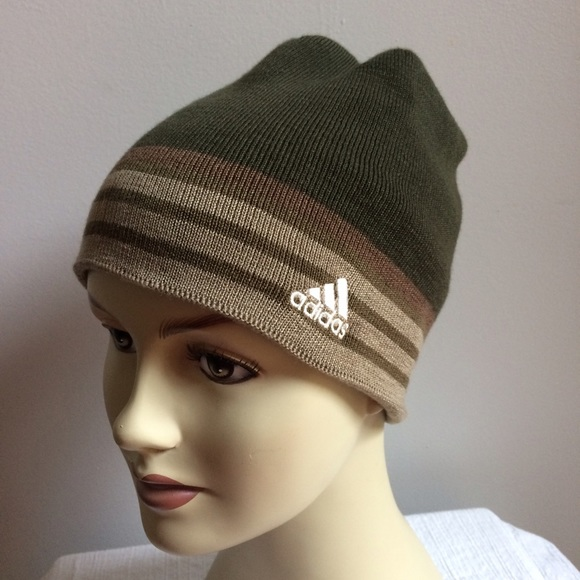 0333389ae93 NWT Adidas Climawarm Olive Beanie Hat