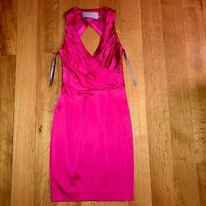 VERA WANG LAVENDER LABEL PINK SATIN DRESS like new
