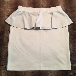 Forever 21 Mint Peplum Skirt
