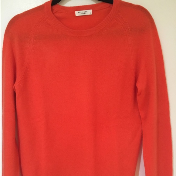53% off Equipment Sweaters - Equipment orange cashmere crew neck ...