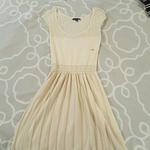 American Eagle Outfitters Cream and Gold dress