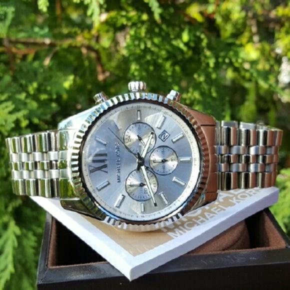 bdcd501f6c6b Mens Michael Kors Lexington 45mm watch MK8405