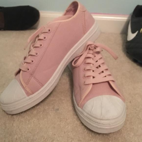 Baby Pink Canvas Tumblr Sneakers | Poshmark