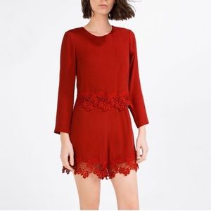 Zara red romper