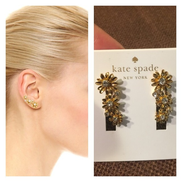 look out for half off release date: kate spade Jewelry | Dazzling Daisies Ear Climbers | Poshmark