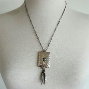 Bolo turquoise necklace
