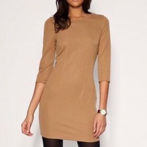 ASOS Tailored Ponti Shift Dress - Camel