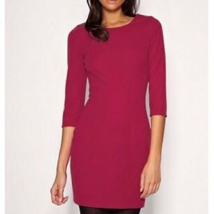 ASOS Tailored Ponti Shift Dress - Plum