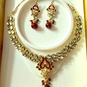 Jewelry - 💥💝Traditional Indian Bridal Kundan Set 💎🎁