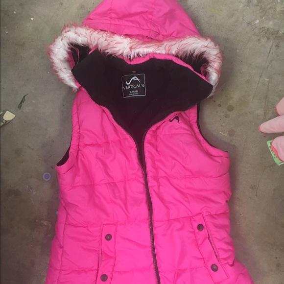 verticle 9 Jackets & Blazers - Verticle 9 XL hot pink faux fur vest