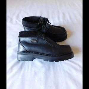 Lugz Shoes - Genuine Leather Divine Black Lugz Creeper Booties