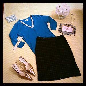 Merona Plaid Pencil Skirt Size 2