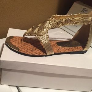 2 lips too  Shoes - Brand new never worn gladiator sandals