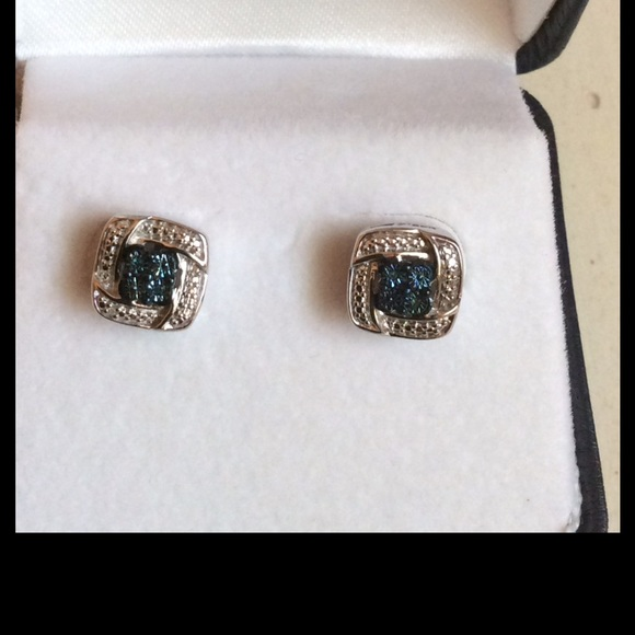 off Kay Jewelers Jewelry SOLD Blue Diamond Earrings from A