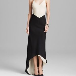 Alice and Olivia black and cream cocktail dress