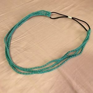 Accessories - Blue Suede Triple Braided Headband